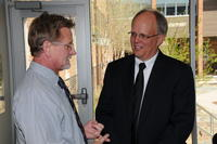 Northwestern Health Sciences University President Jeff Nelson and Link Larson
