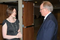 Northwestern Health Sciences University President Jeff Nelson and Katie Burns Ryan