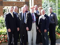 Northwestern Health Sciences University Presidents John F. Allenburg and Alfred Traina with others