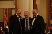 Northwestern Health Sciences University Presidents Mark Zeigler and John F. Allenburg, with David Peterson