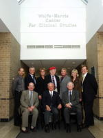 Northwestern Health Sciences University Presidents Alfred Traina and John F. Allenburg with others