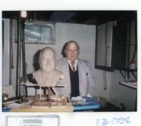 Northwestern College of Chiropractic faculty member J. Lamoine De Rusha and bronze bust