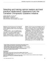 Selecting and training opinion leaders and best practice collaborators