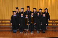 Group shot of School of Massage Therapy graduates